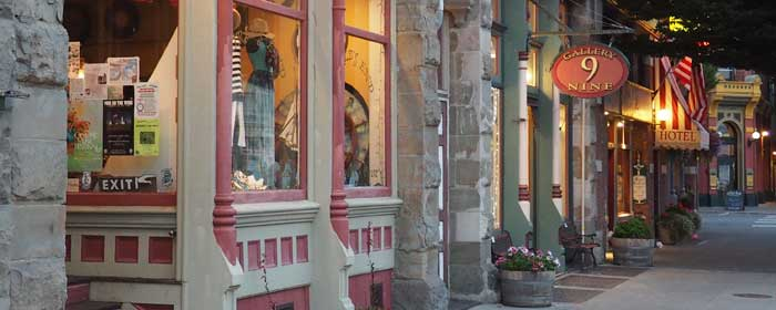 Port Townsend shops on Water St.